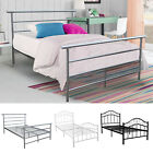 Twin Full Size Metal Bed Platform Frame Bedroom Home Furniture Steel Headboard