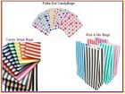 20 x Candy Stripe Paper Pick n Mix Birthday Party Gift Bags - You Choose Design