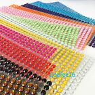 Внешний вид - 504 pcs 6mm Self Adhesive Rhinestone Crystal Bling Stickers Round Pearls iphone