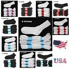 Внешний вид - 12 Pairs Lot Boy Girl Cotton Socks Boy Girl Junior Kids White Black 2-3 4-6 6-8
