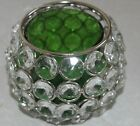 Chrome Faux Crystal Beads Tea Light Candle Holder Various Shapes Available Aura