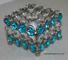 Chrome Faux Crystal Beads Tea Light Candle Holder Square Colors Available Aura