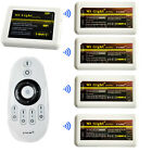 2.4G DC12/24V 12A Wireless 4-Zone Group LED Brightness Adjust Dimmer Controller