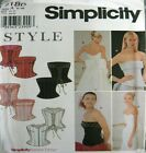 Style Simplicity Sewing Pattern 9180 Ladies Boned Corset Bustier Size 6-16
