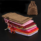 1Pc Linen Plain Sack Drawstring Burlap Pouch Jewelry Pouch Gift Packaging Bag