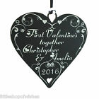 First Valentines gifts heart together as Mr & Mrs couple personalised Valentine