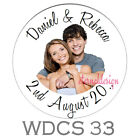 PERSONALISED WEDDING DAY CIRCLE STICKERS (choose from MATT or GLOSSY) WDCS 33
