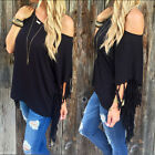 Women's Sexy Fashion Loose One Shoulder Tops Long Sleeve T-Shirt Casual Blouse