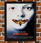Framed The Silence of the Lambs Film Poster A4 / A3 Size In Black / White Frame