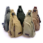 Men's Canvas Leather Satchel CrossBody Handbag Messenger Shoulder Bag Vintage