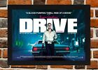 Framed Drive Movie Poster A4 / A3 Size In Black / White Frame (Ref-1)