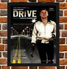 Framed Drive Italian Movie Poster A4 / A3 Size In Black / White Frame