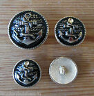 Metal Novelty Buttons - Anchor - Nautical - different sizes - Blazer/Jacket/Coat