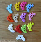 5 - Novelty Buttons - Foot - 21mm x 17cm -Baby/ Kids - Knitting/Sewing/Cards