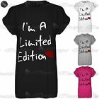 Womens Ladies I'm A Limited Edition Heart Print Baggy Oversized Stretchy T Shirt
