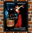 Framed Moulin Rouge Movie Poster A4 / A3 Size In Black / White Frame.