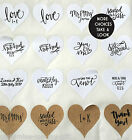 Heart Stickers x 24 - Personalised Kraft Save the Date Stickers Wedding Handmade