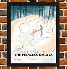 Framed The Tale Of Princess Kaguya Movie Poster A4 / A3 Size In Black Frame.