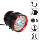 NEW 30000lm 14xCREE T6 LED Bycicle Bike Light Torch LAMP+20000mAh+Laser Light