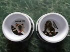 TWO Melamine Dog Food-Water Bowls