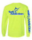 Salt Addiction t shirt long sleeve saltwater fishing Marlin trolling offshore