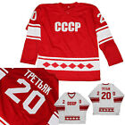 VLADISLAV TRETIAK 20 CCCP RUSSIA 1980 HOCKEY RED JERSEY ANY NAME SIZE