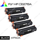 4 Pack 78A CE278A Black Toner Cartridge for HP LaserJet M1536DNF MFP P1566 P1560