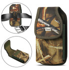 OEM REIKO Camouflage Vertical Rugged Canvas Belt Clip Case Pouch for CAT Phones