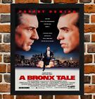 Framed A Bronx Tale Movie Poster A4 / A3 Size Mounted In Black / White Frame