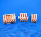 10PCS Spring Lever Push Fit Reuseable Cable Cage Clamp 2 3 5 wire Each 10pcs