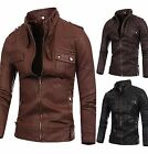 2016 New Mens Premium Casual Design Line  Faxu Leather Jacket  KL103