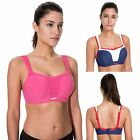 Women's High Impact Underwire Full Support Padded Mesh Active Sports Bra