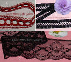 "Black Lace Trim 3-60 Yds CLOSEOUT 3/4""-1-3/4"" 048CV Choice Added Trims ShipFree"