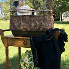 Handmade Rustic Pinecone Fabric Bird Cage Skirt Seed Catcher Guard Cover XS-XXL
