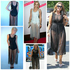Celebrity Style Glamorous Mesh Overlay Jumpsuit Unitard Size 8UK/4USA/36EU