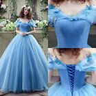 New Cinderella Princess Wedding Dress Quinceanera Formal Beaded Bridal Ball Gown