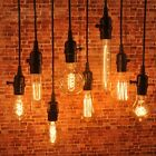 Industrial Pendant Lamp Wire Bulb Socket Retro Vintage Bulb Hanging Light Holder