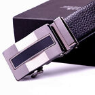 New Black Mens Leather Automatic Buckle Belts Fashion Waist Strap Waistband