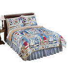 Collections Etc Newport Reversible Nautical Quilt