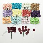 "Внешний вид - 144 mulberry mini rose paper flower lot wedding card scrapbooking 5/8"" 2 cm"