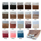 16 18 20 22 24 Inches 20pcs PU Tape In Skin Weft Remy Human Hair Extensions