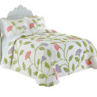 Collections Etc Floral Garden Party Chenille Bedspread