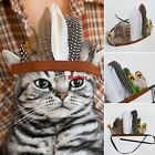 Indian Headdress Dog Cat Headband Native American Halloween Feather Costume Cute