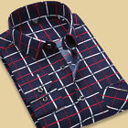New Men's Plaids Long sleeve Casual Business Slim Formal Shirts T6310