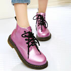 Women Retro Oxford Ankle Boots Lace Up Martin Short Boots Motorcycle Boots Shoes
