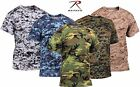 Mens Camouflage Polyester Performance T-Shirt - Rothco Quick Dry Camo Tee Shirts