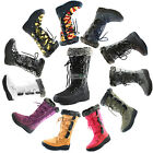 Women DailyShoes Woman's Knee High Up Warm Fur Water Resistant Eskimo Snow Boots