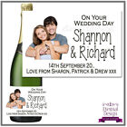 Personalised Wedding Bottle Label Gift Wine, Spirit or Champagne WDBL 19