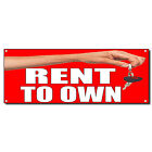 Rent To Own With Key 13 Oz Vinyl Banner Sign With Grommets