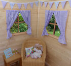 PLAYHOUSE PLAY HOUSE CURTAINS ~ LILAC DOTTY ~ INCLUDES CURTAIN WIRE & TIE BACKS